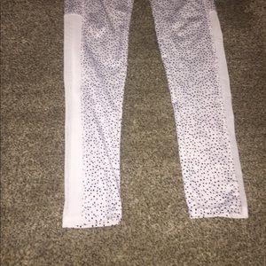 Pants - Cute mesh polka dot workout leggings